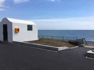 Image of works at Killiney Beach lifeguard hut